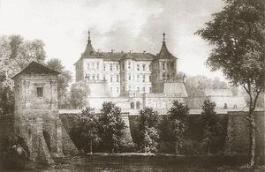 Pidhirtsi Castle, historic view